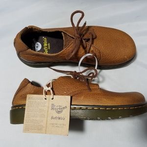 Dr. Martens Elsfield Brown Lace Up Loafers Shoes